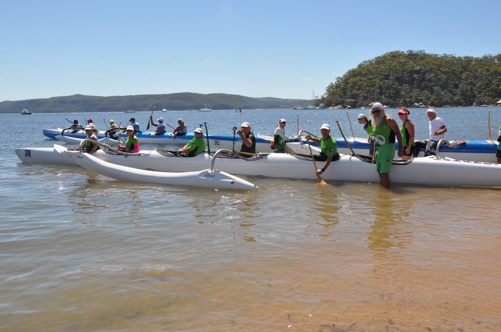 PITTWATER REGATTA SUNDAY 16TH FEBRUARY 2020 - Outrigger Canoe Club - Newcastle Outrigger Canoe Club