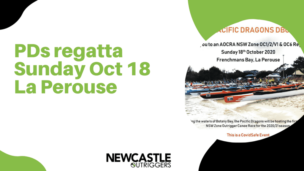 PDs regatta Sunday Oct 18 La Perouse - Outrigger Canoe Club - Newcastle Outrigger Canoe Club