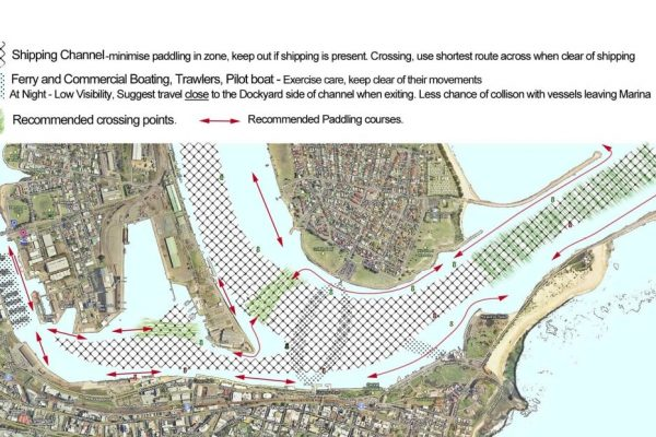 Newcastle Harbour Map - Newcastle Outrigger Canoe Club